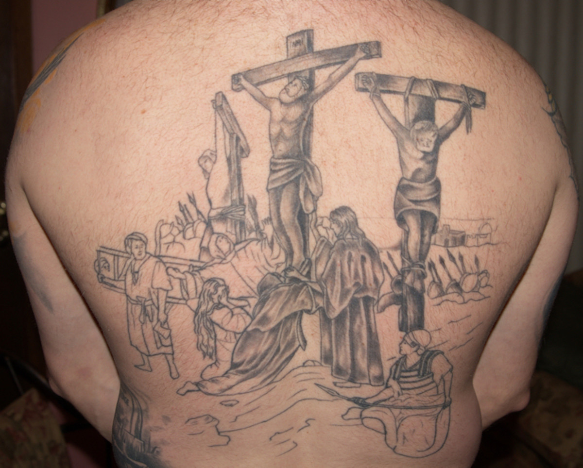 Mikes back tattoo