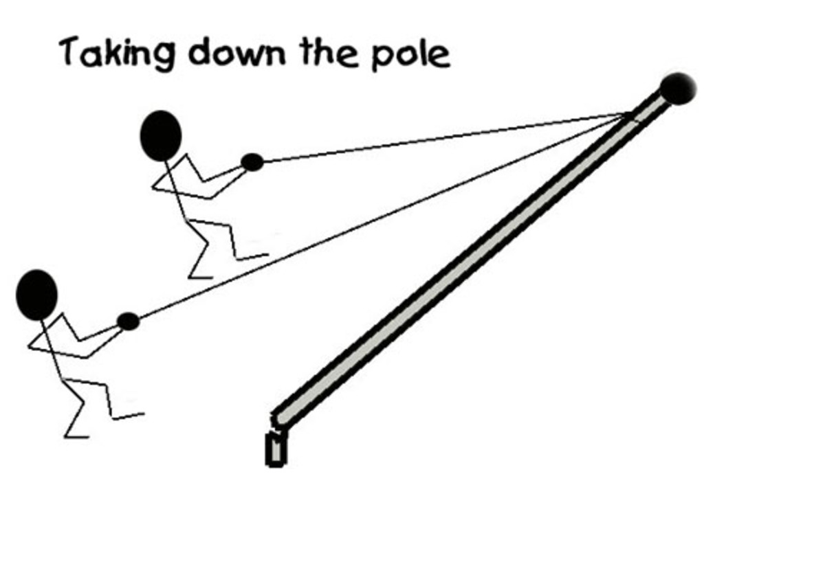 Lower the pole