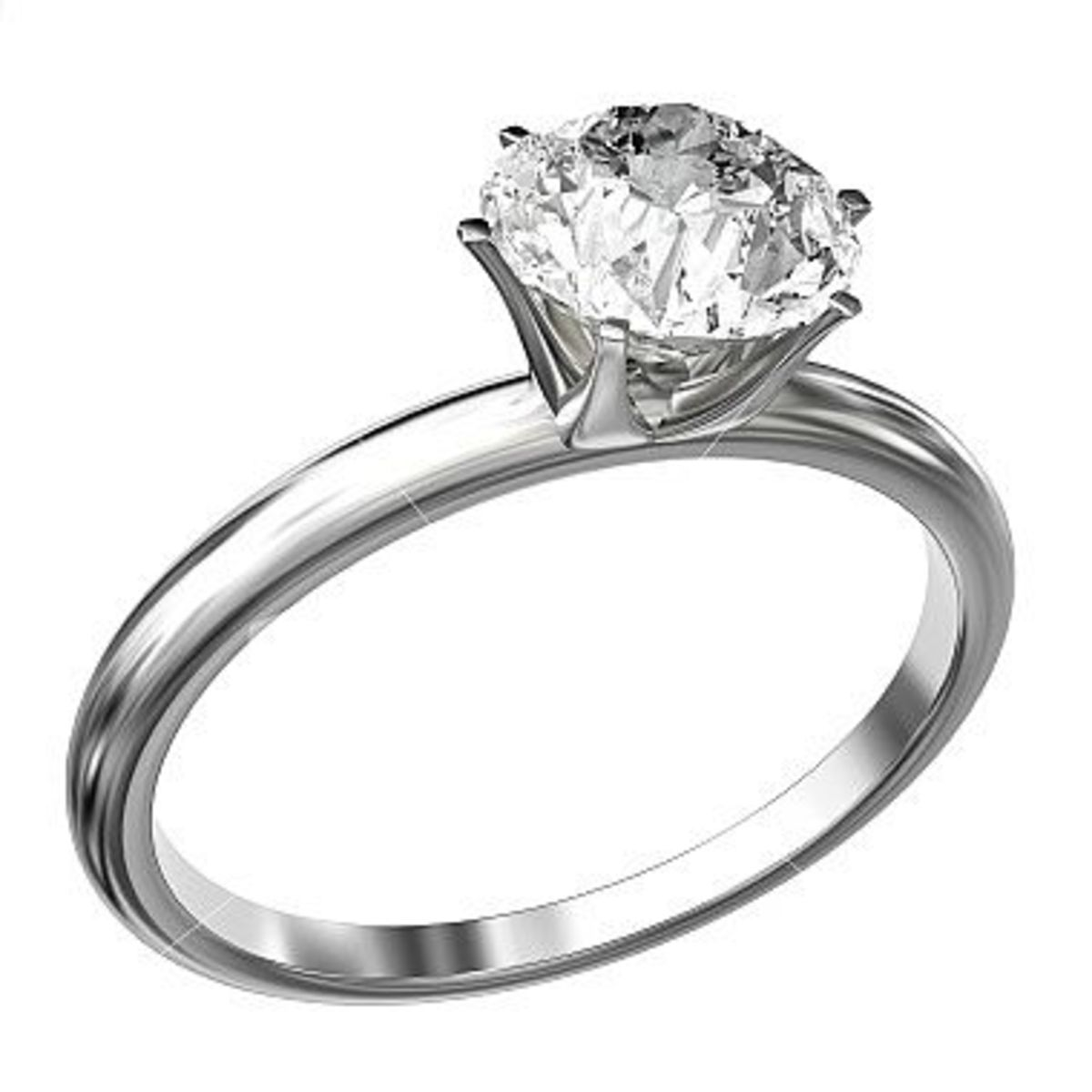 A beautiful ring with moissanite stone