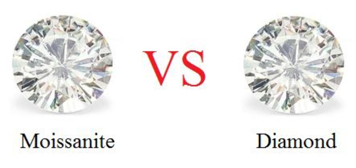 Image result for moissanite vs diamond""