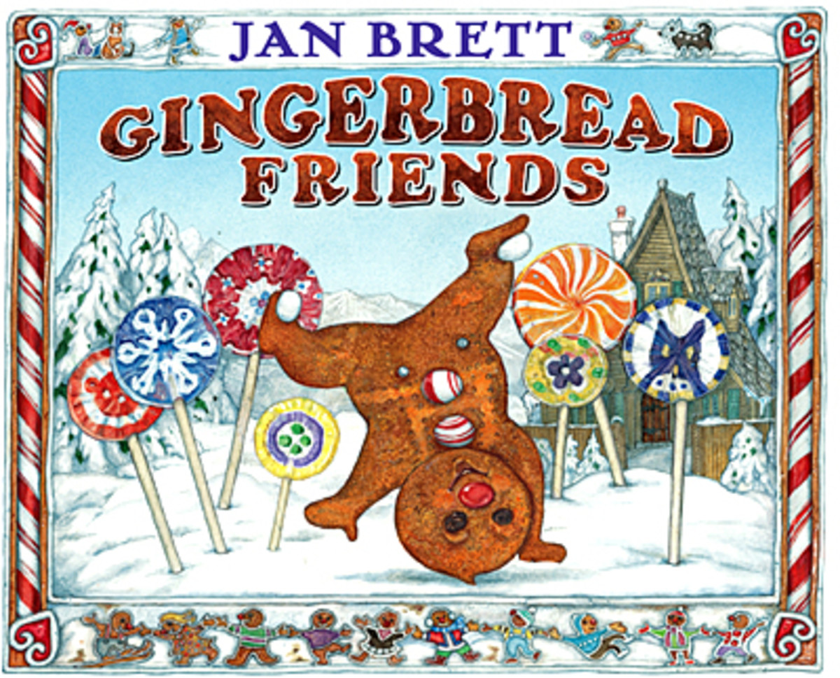 Gingerbread friends is an original story Brett wrote as a follow-up to the Gingerbread Baby.