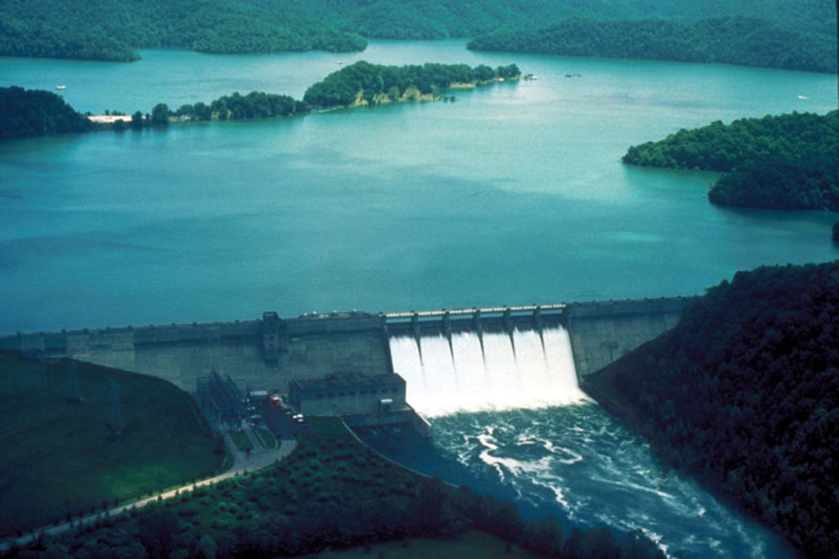 Dale Hollow Dam and Lake on the Obey River.