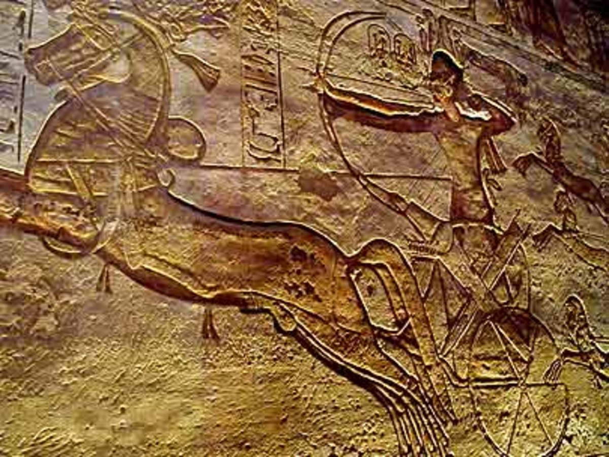 Charriotes another mobile Ancient Egyptian military weapon