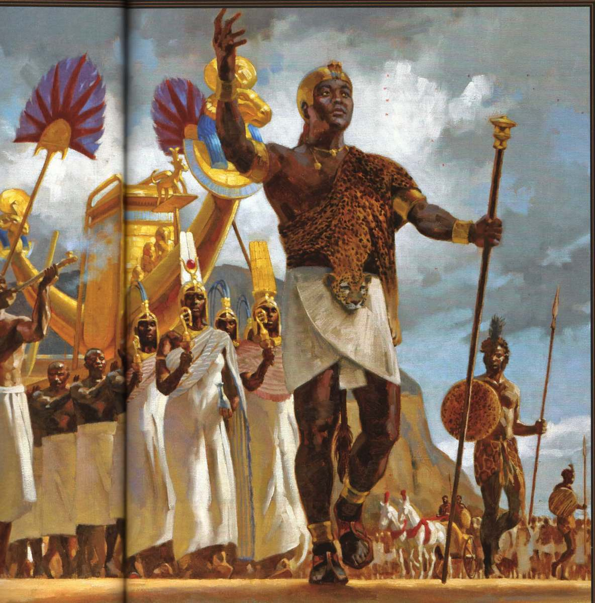 Pharaoh Piye and his Army and entourage