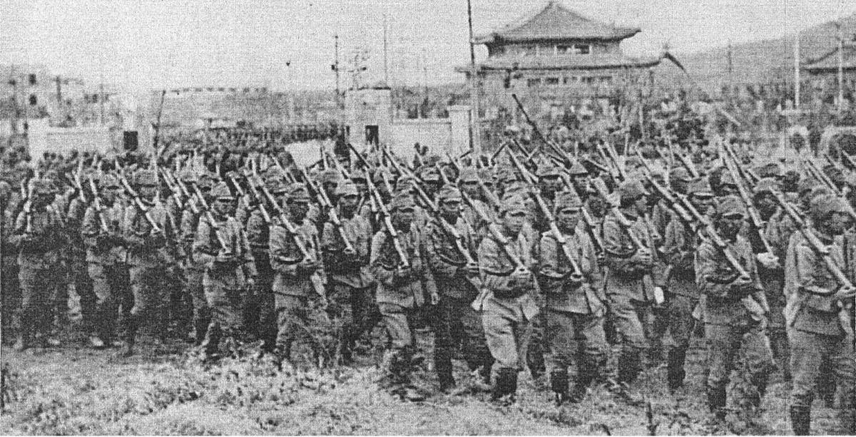 Japan's troops invading China