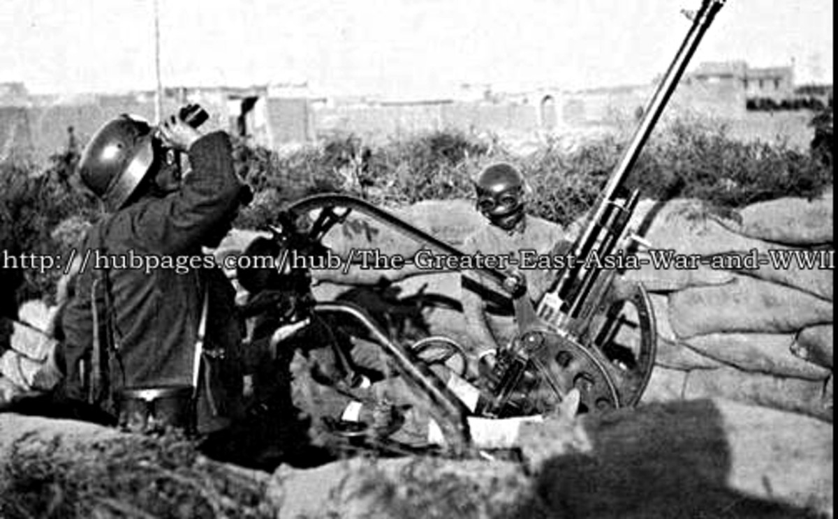 China's NRA troops man a flak-gun in the Battle of Shanghai 1937