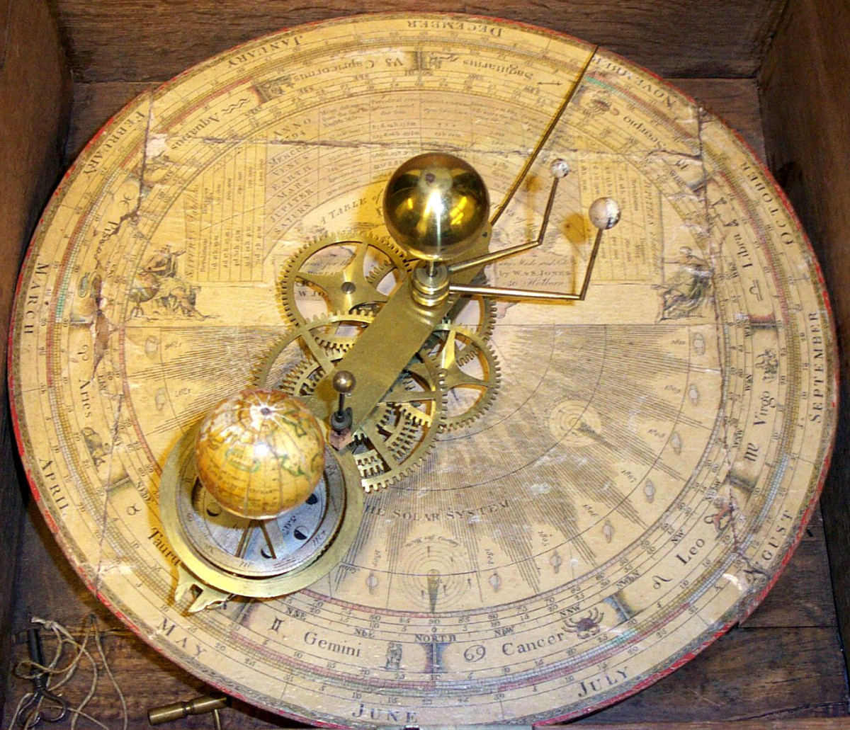 Princeton's 1794 orrery/Photo from the Historic Maps Collection, Department of Rare Books and Special Collections, Princeton University Library
