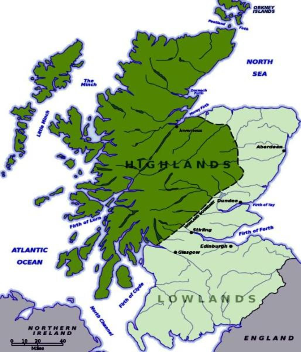 Map of Scotland/Source: http://www.harpersinmissouri.com/Scottish-Highlands.html