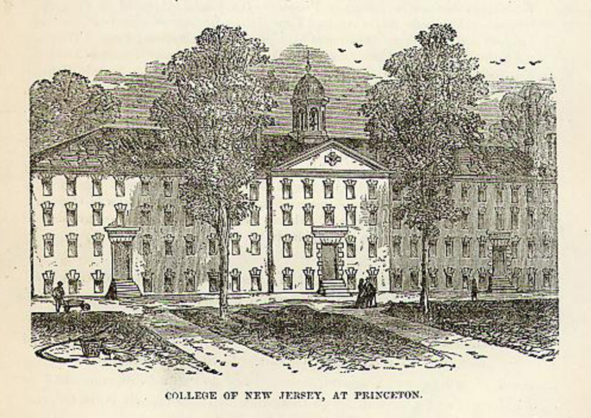 College of New Jersey; Wood engraving/Source: http://www.philaprintshop.com/images/collegenewjersey.jpg