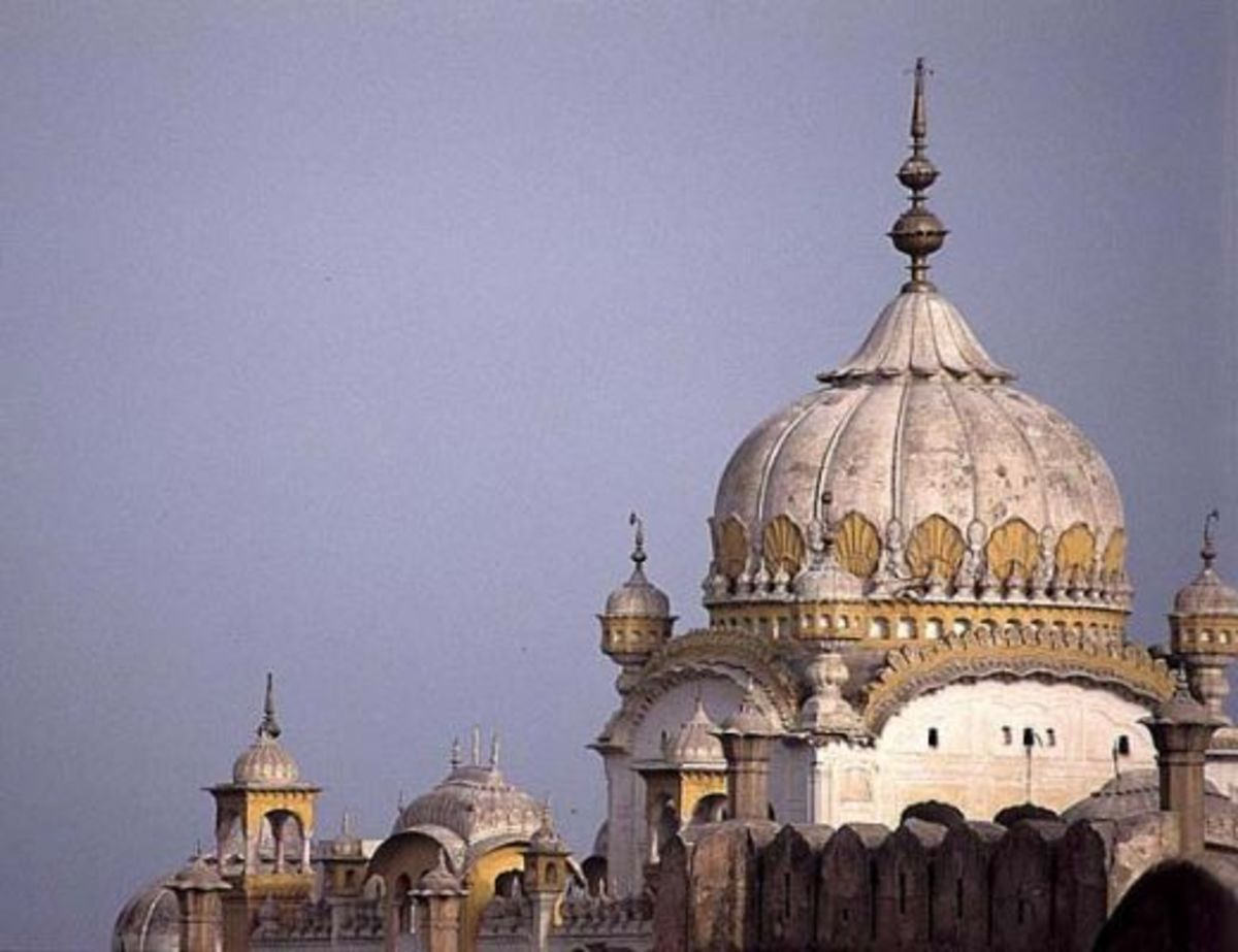 Mausoleum of Sikh ruler, Maharaja Ranjit Singh, situated in the old city of Lahore.