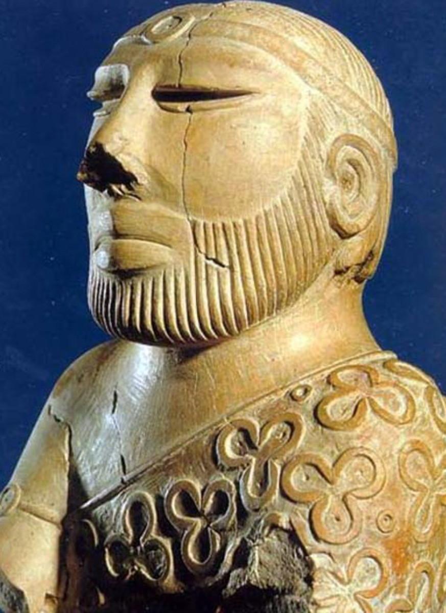 Sculpture of a Priest King, 2500 BC, National Museum, Karachi.