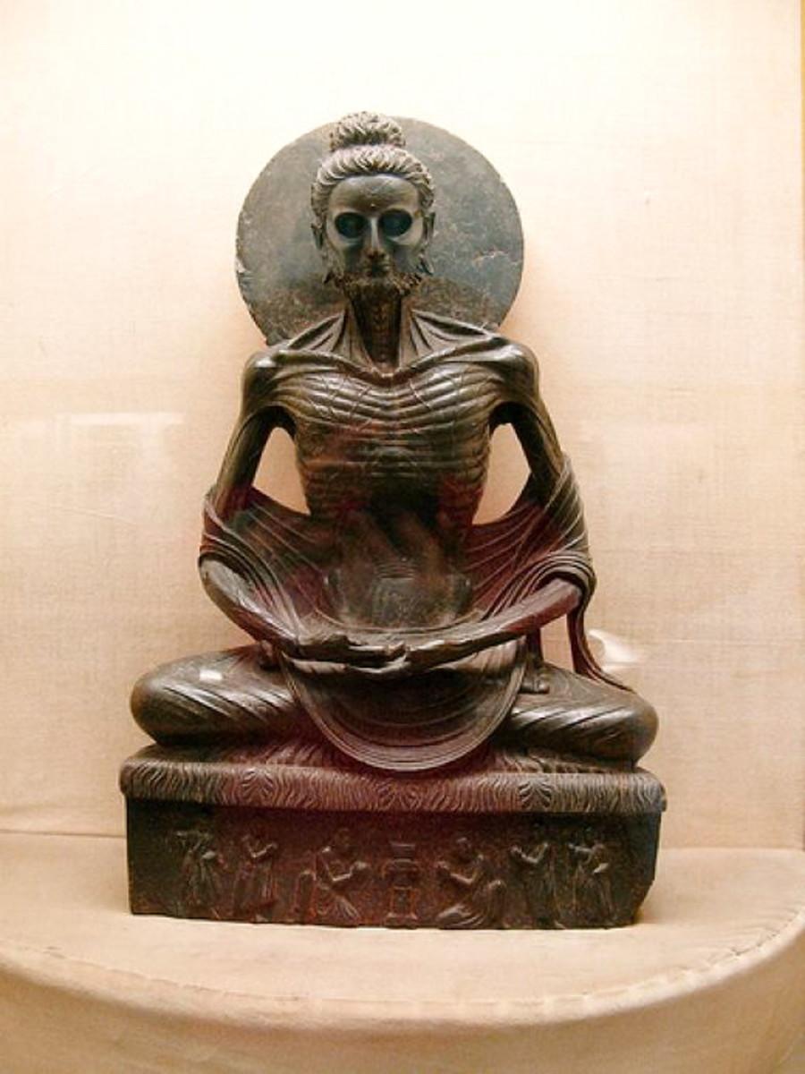 Fasting Buddha,  Lahore museum.