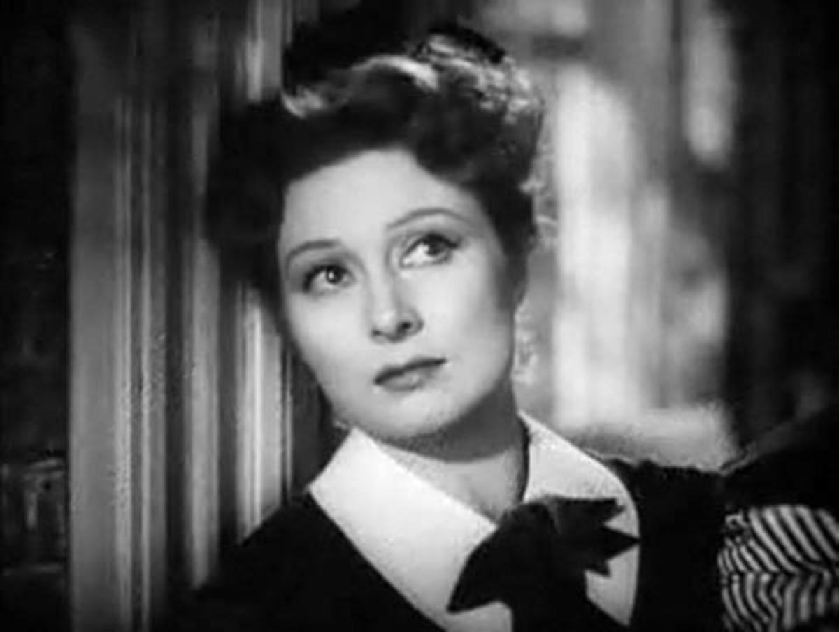 """Ms. Greer Garson in the film """"Pride and Prejudice"""" in 1040."""