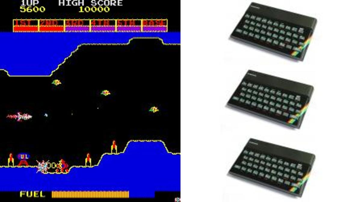 Scramble games on the ZX Spectrum