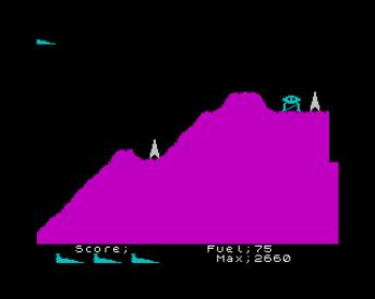 Scramble on the ZX Spectrum
