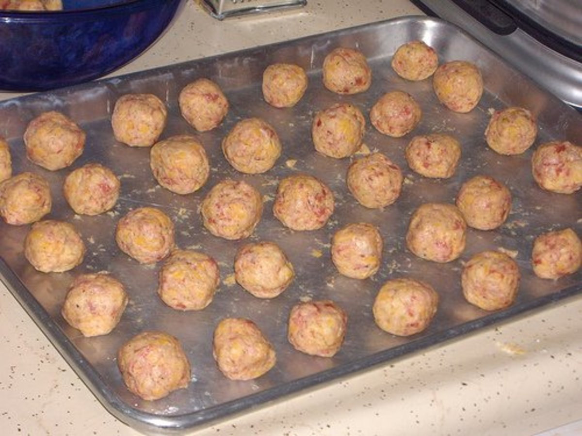 "Form mixture into 1"" balls and place on baking sheet."