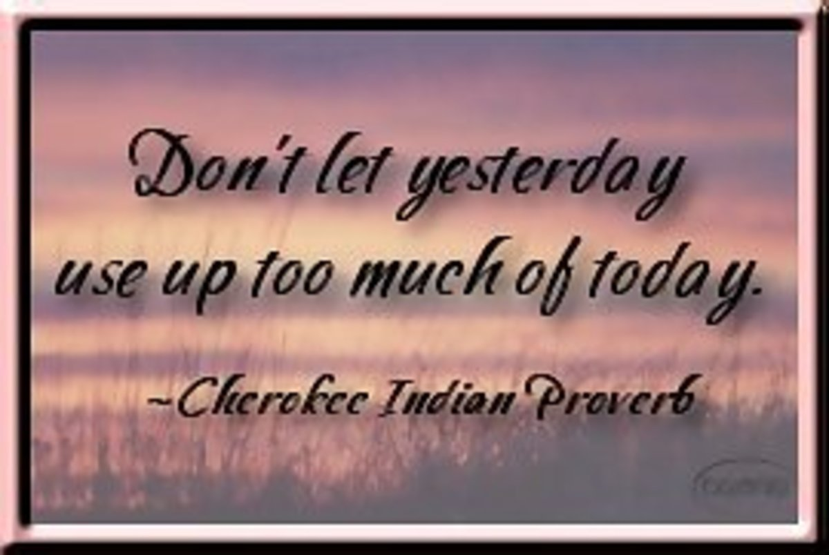 dont let yesterday use up to much of today