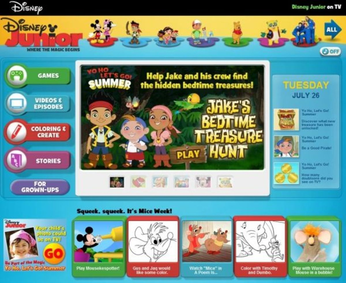 playhouse disney free online games for kids