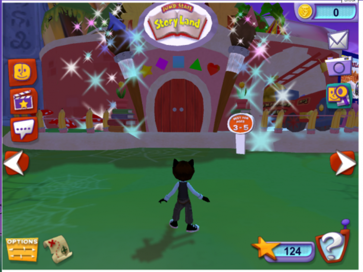 One of many lands within JumpStart's Online World