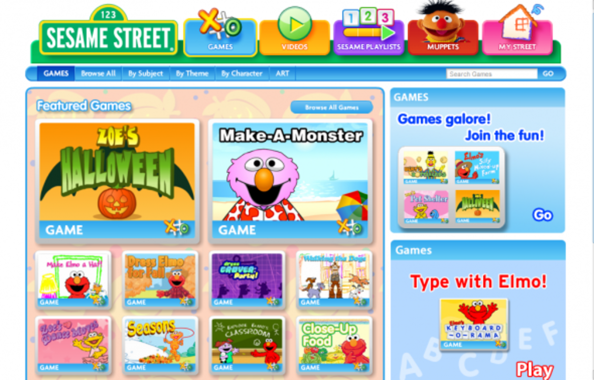 play fun with games sesame street