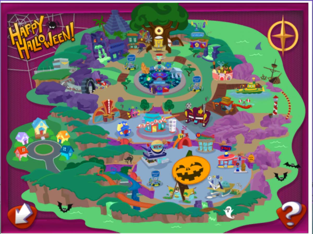 JumpStart Overworld Map.  This was taken during October.