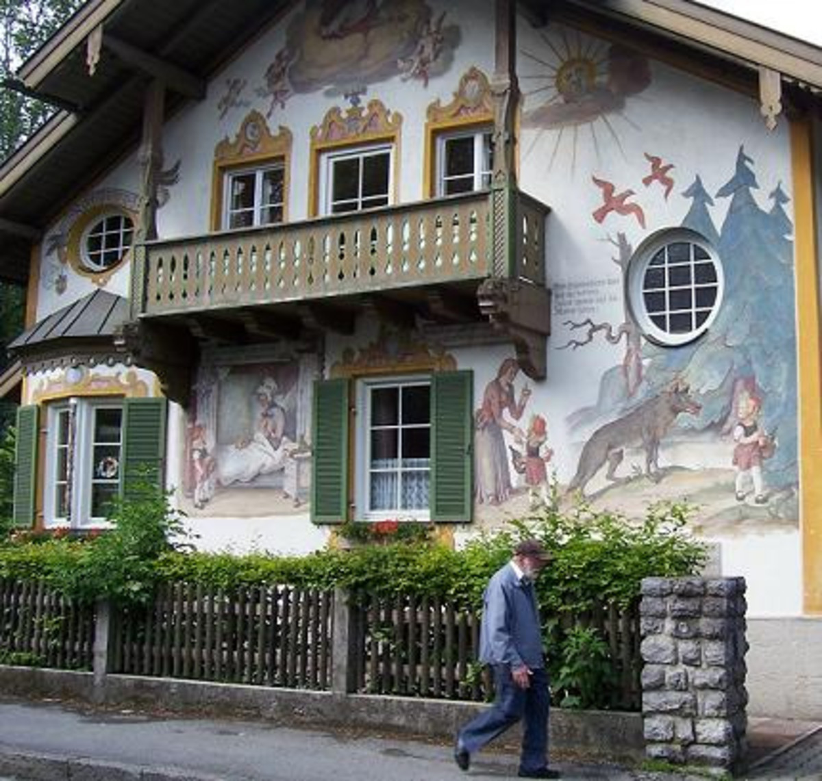 Painted Houses Of Village Oberammergau