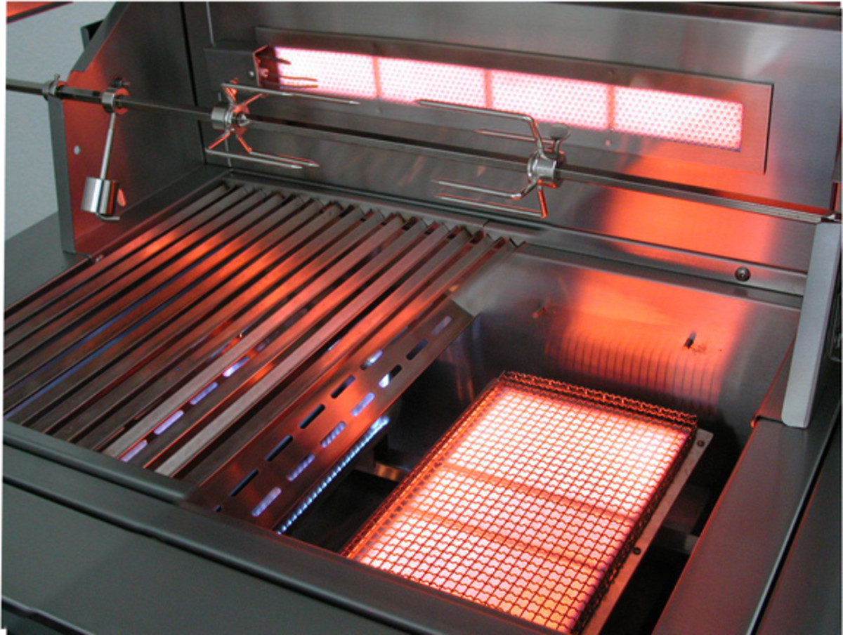 infrared gas grill parts for intense heat
