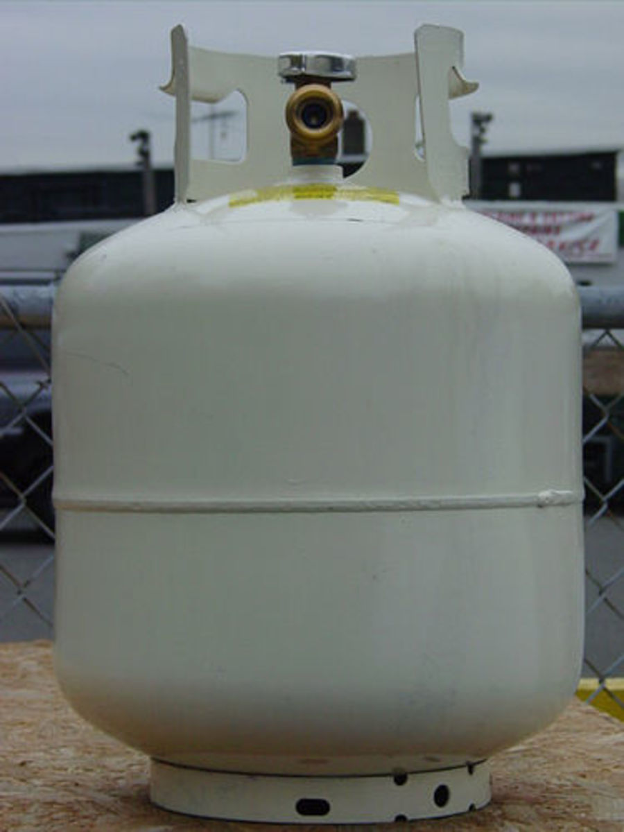 propane container for gas bbq grill