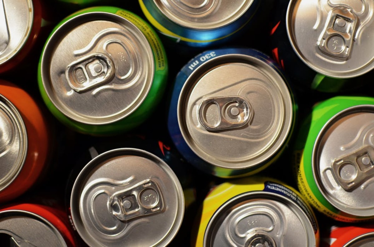 Cans of beer and soda were passed from person to person.