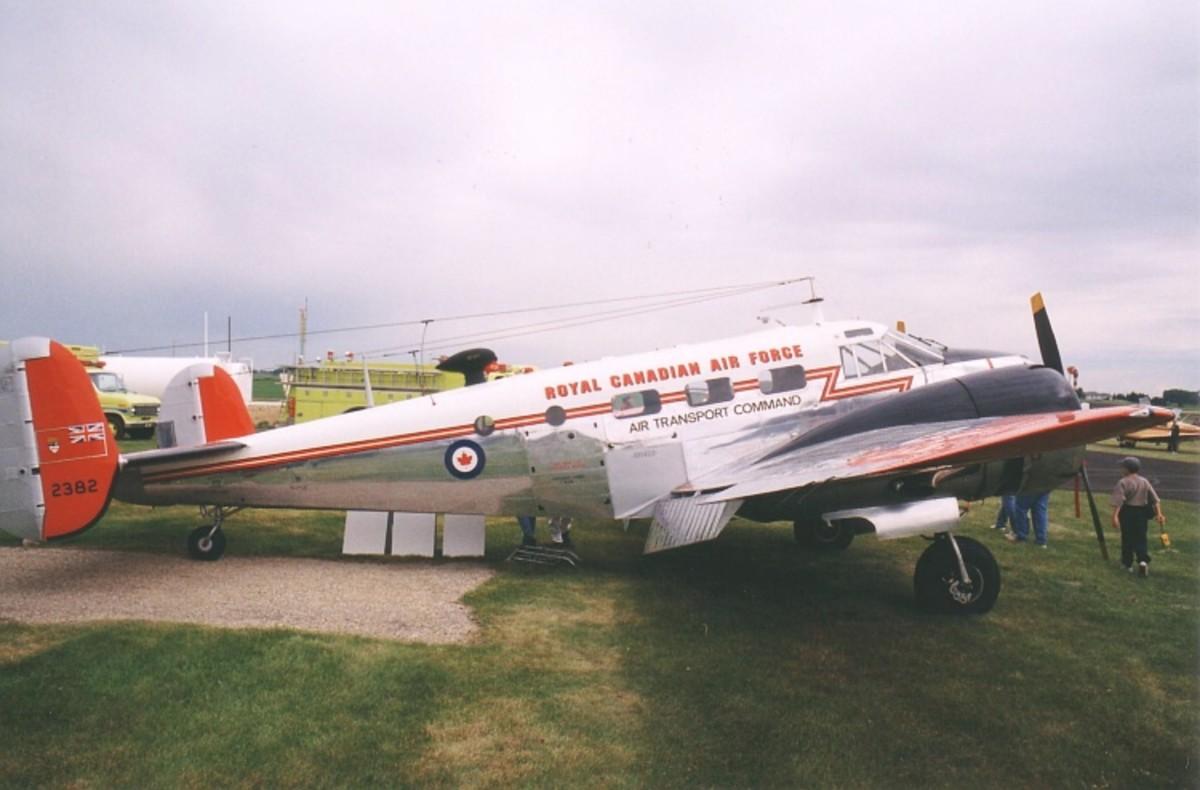 Beechcraft model 18 plane