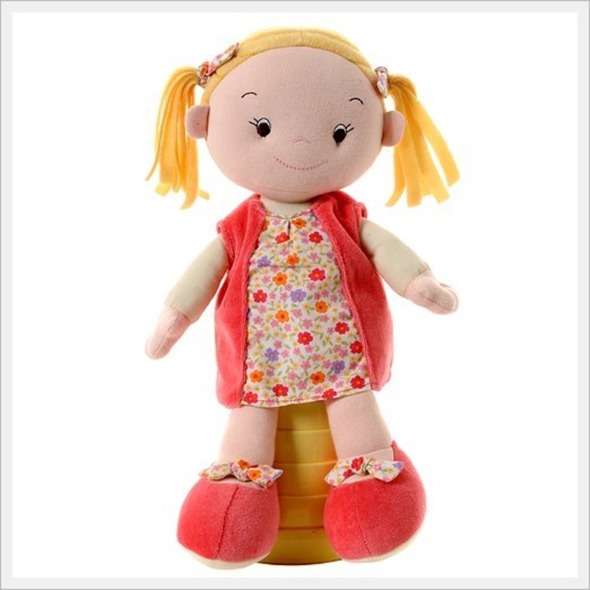 A rag doll toy can be any shape, size, type or configuration that you desire. There is no hard and fast rule as to how one should look.