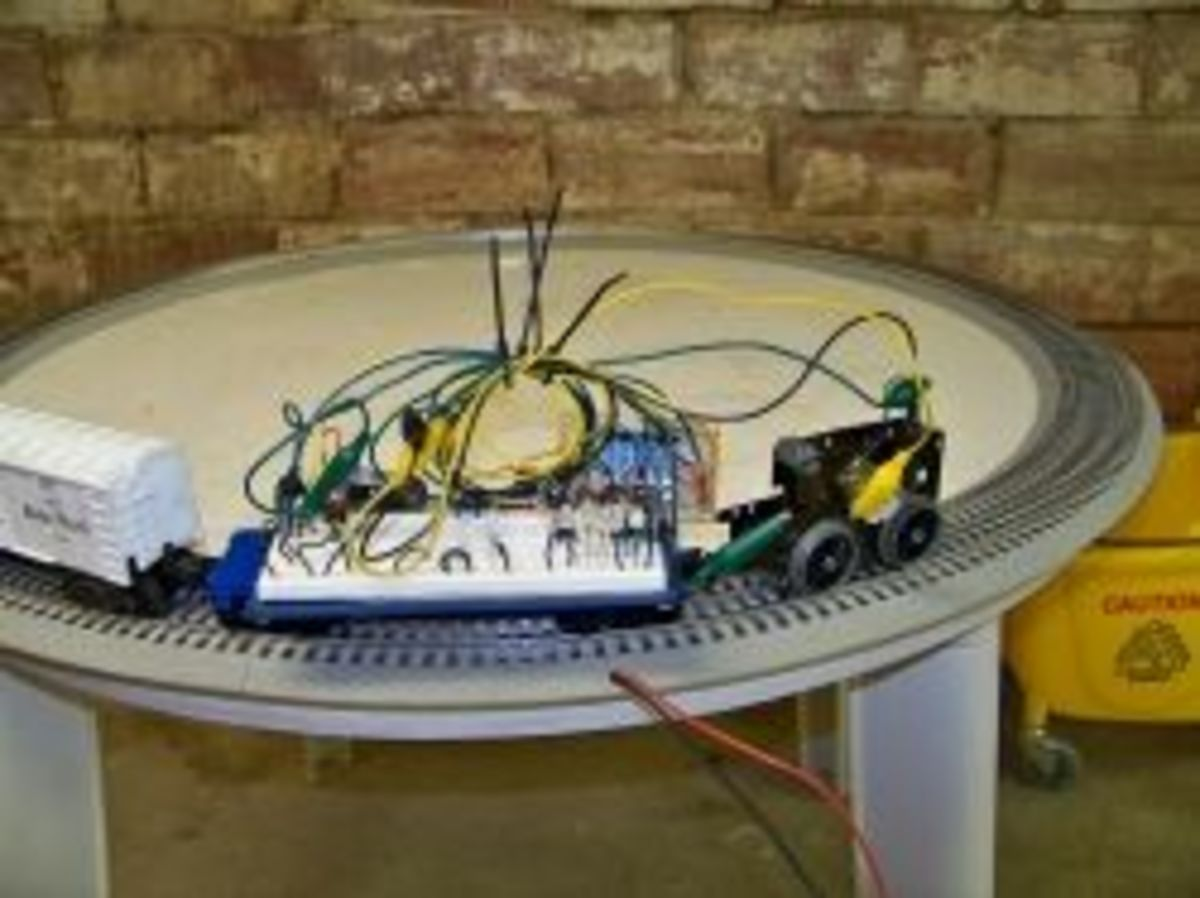 building an electronic e unit for your lionel dc steam engine here is a picture of me testing the logic part of my electronic e unit i put the relays driver transistors and high voltage protection diodes on a