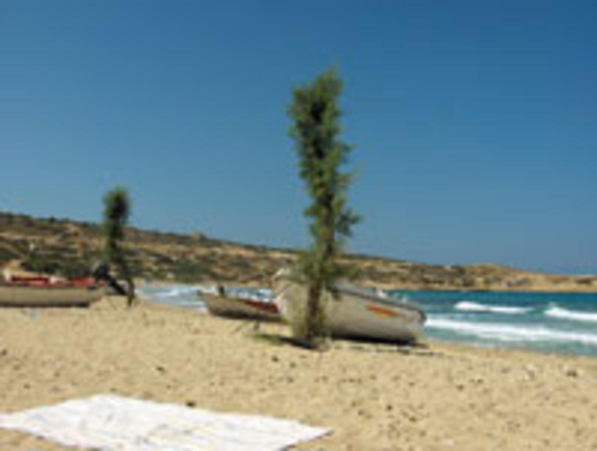 A beach on Gavdos Island