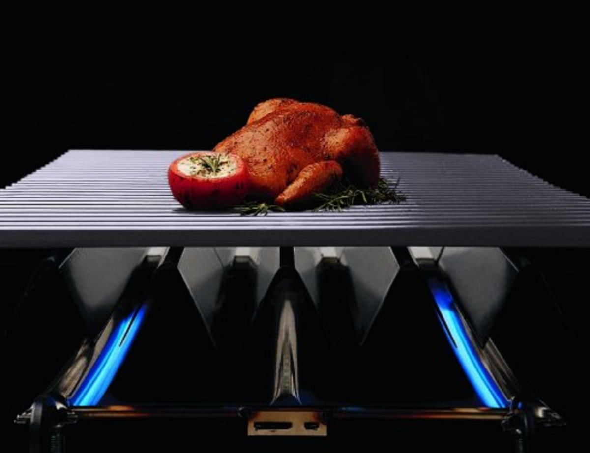 Offset food for convectional cooking with you Weber.