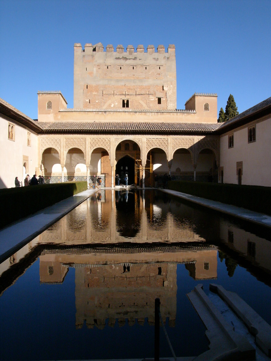Alhambra Palace, built by the Moors during their extensive stay in Andalusia, and showing a culture that was enlightened and cultivated when we Brits were still experiencing the Dark Ages.
