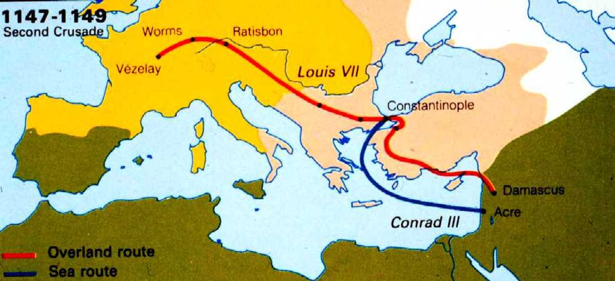ROUTE OF THE SECOND CRUSADE