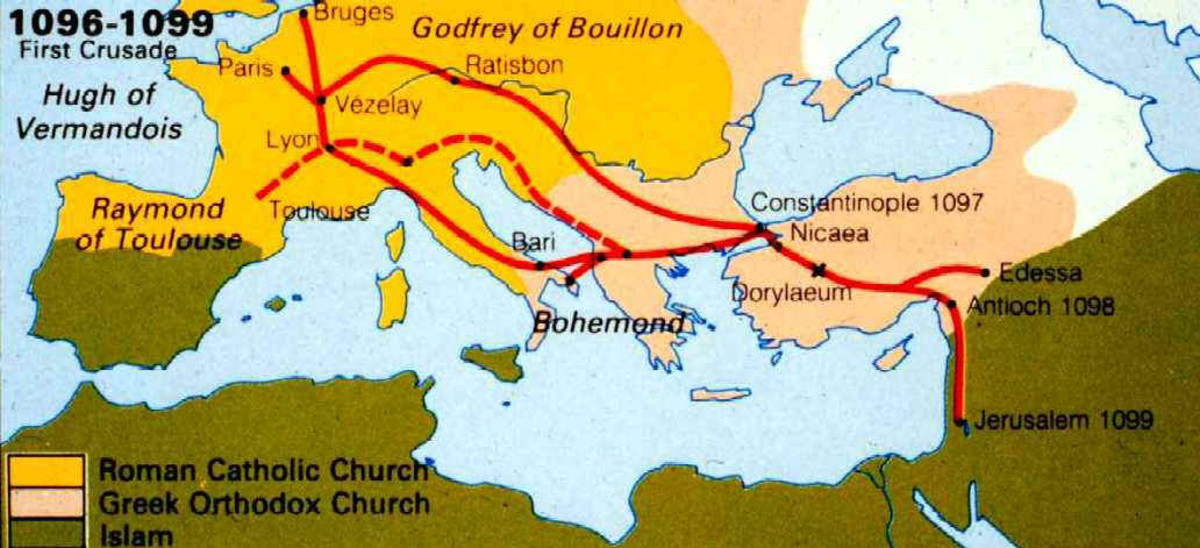 THE ROUTE OF THE FIRST CRUSADE