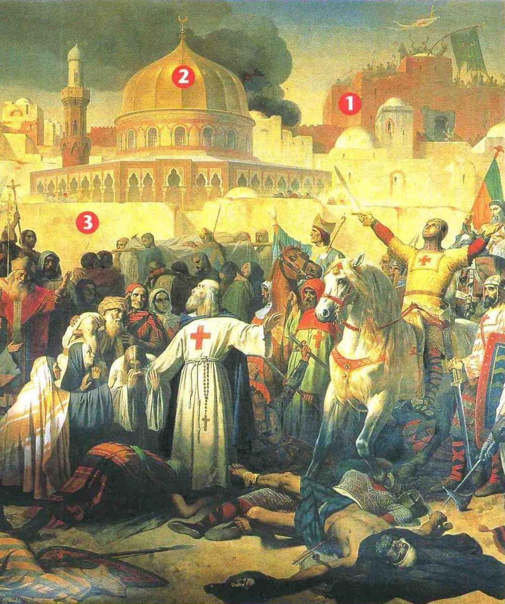FIRST CRUSADE RECONQUEST OF JERUSALEM FEATURING KNIGHTS TEMPLAR