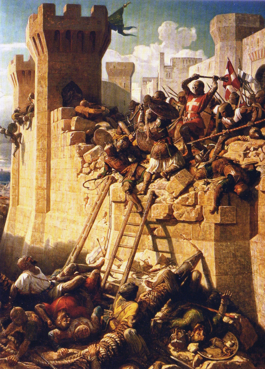 THE KNIGHTS HOSPITALLER DEFEND ACRE IN THE HOLY LAND