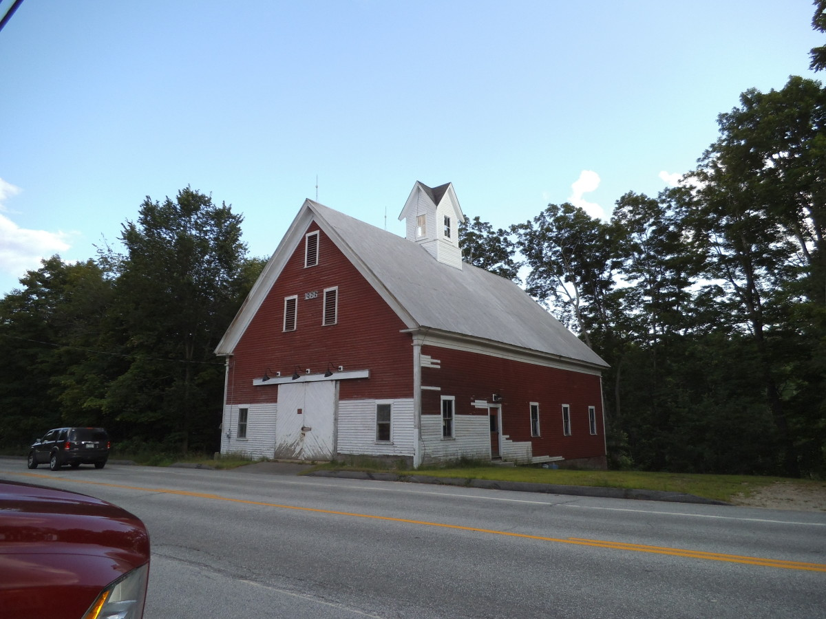 Well over 100 years old, this old barn is in Shapleigh, Maine.