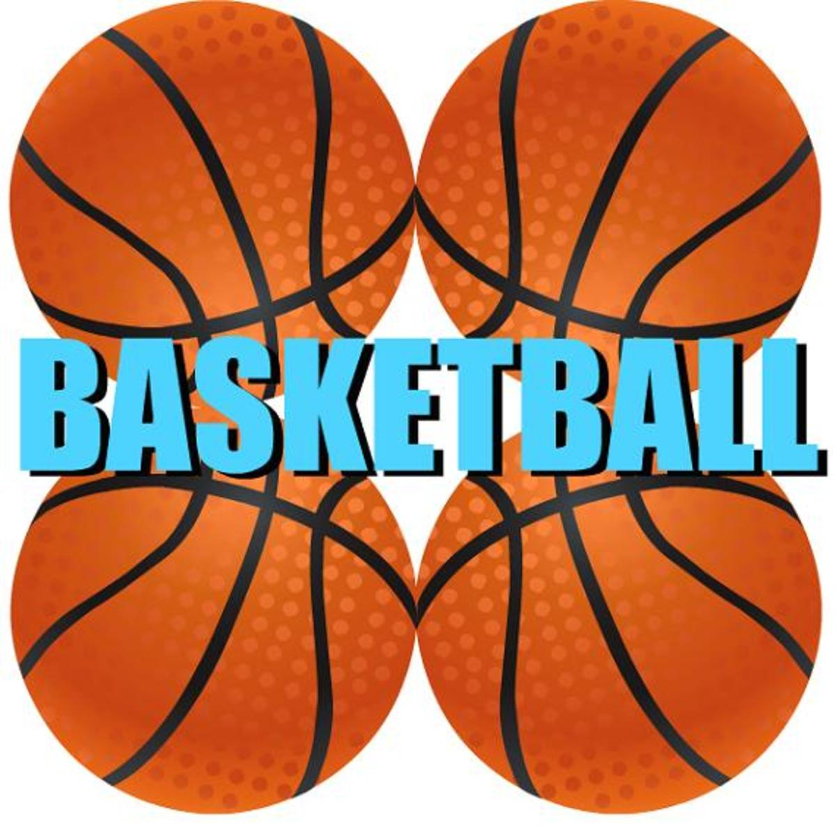 Four basketballs clip art