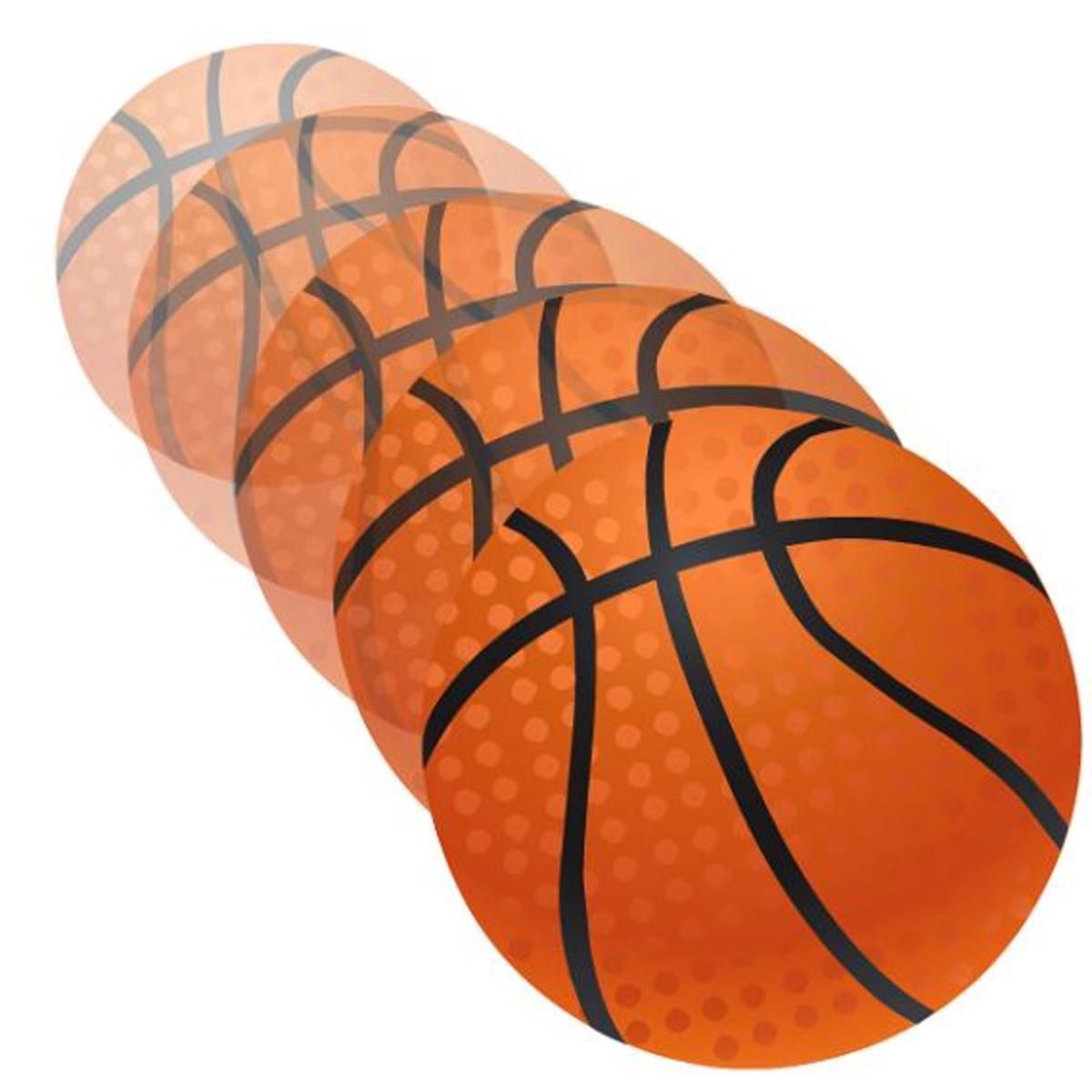 Flying basketball clip art