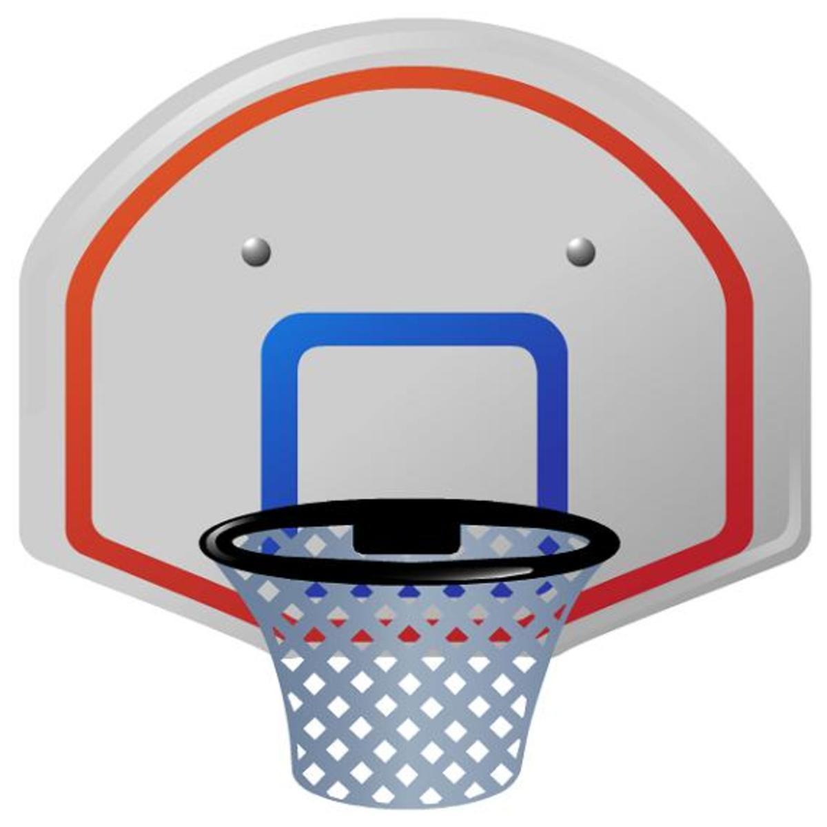 Basketball backboard clip art