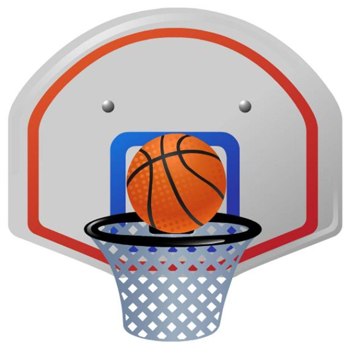 Basketball and backboard clip art