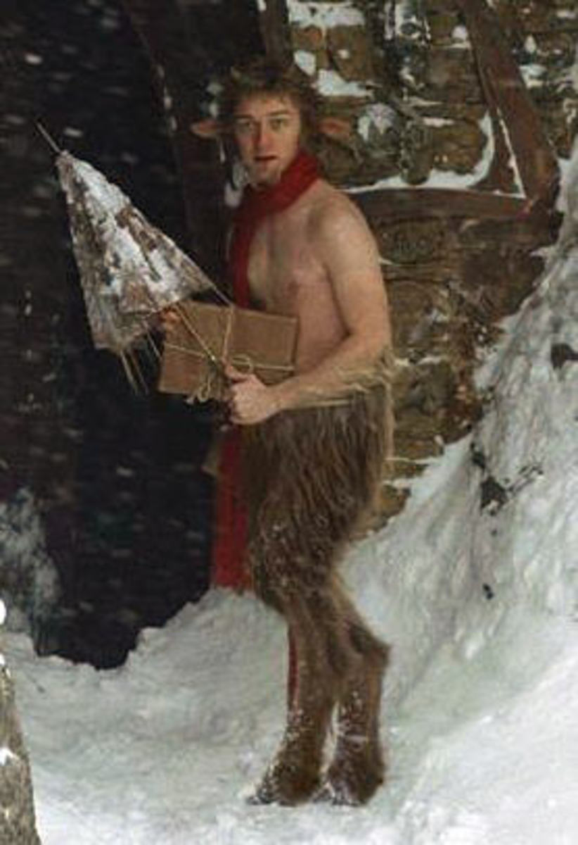"A common depiction of a Satyr.  This image if from ""The Chronicles of Narnia -- The Lion the Witch and the Wardrobe"" The Roman culture often depicted these creatures in sexual situations."