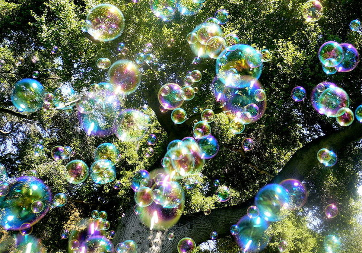 There are plenty of them - human knowledge, bubbles that represent religion, bubles who are angesl, saints, gods, artists, aliens...