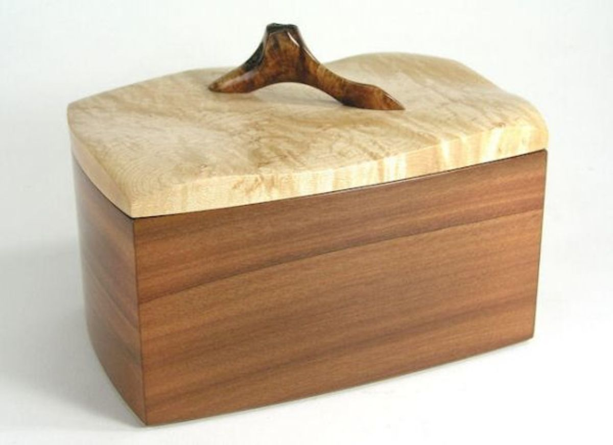 Sapodilla, maple, sculpted