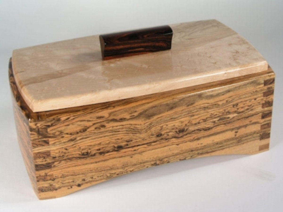 Figured Bocote and Birdseye box