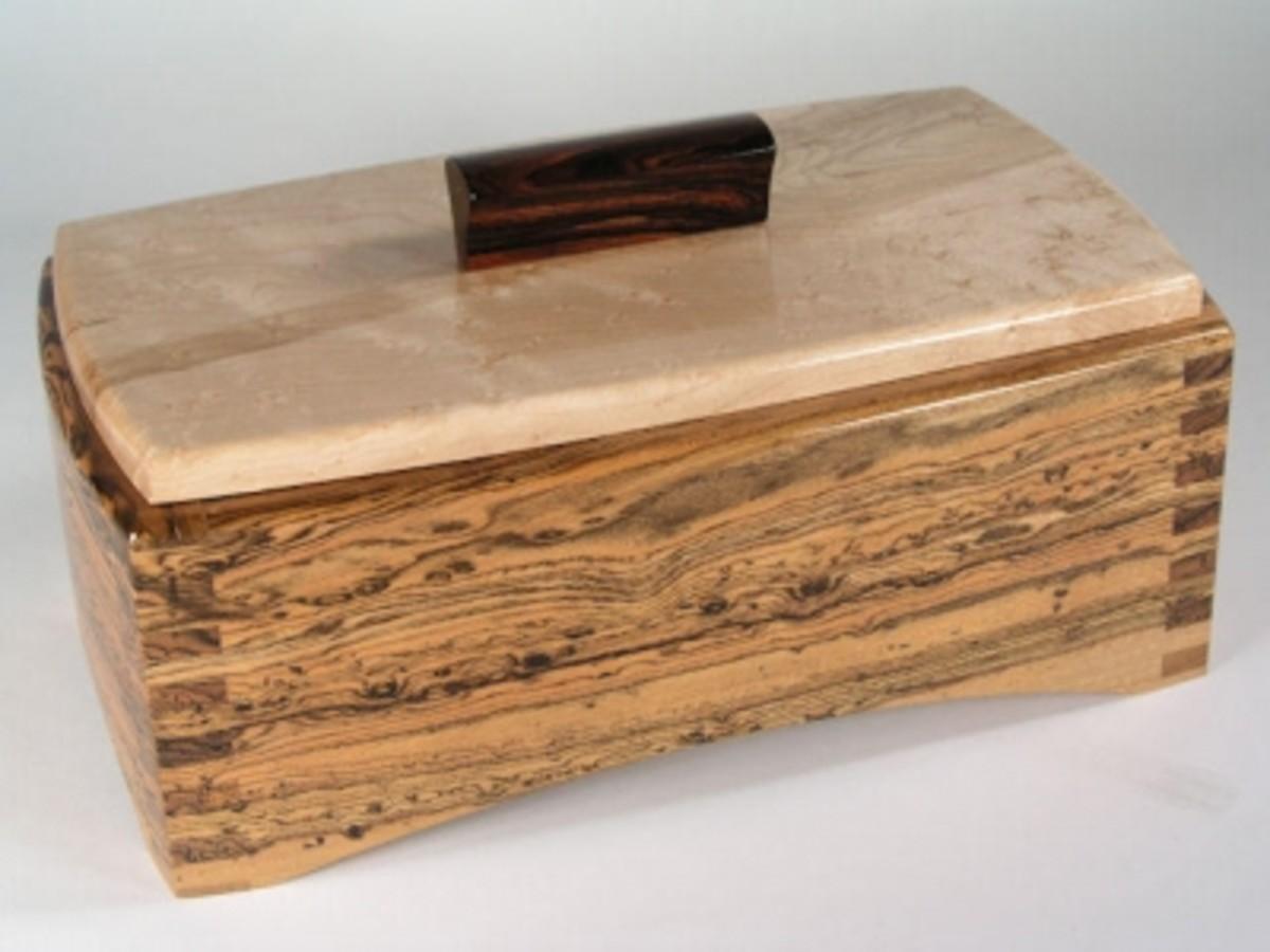 Figured Bocote and Birdseye box