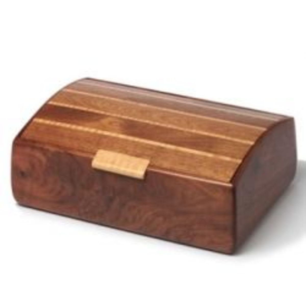 Sculpted Walnut Treasure Chest
